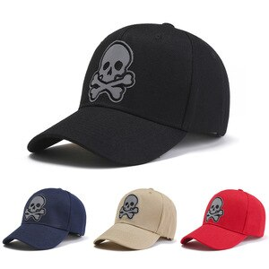 2021 New Personality Skull Embroidery Baseball Cap Men And Women Fashion Outdoor Sports Caps Couple Sun Hats