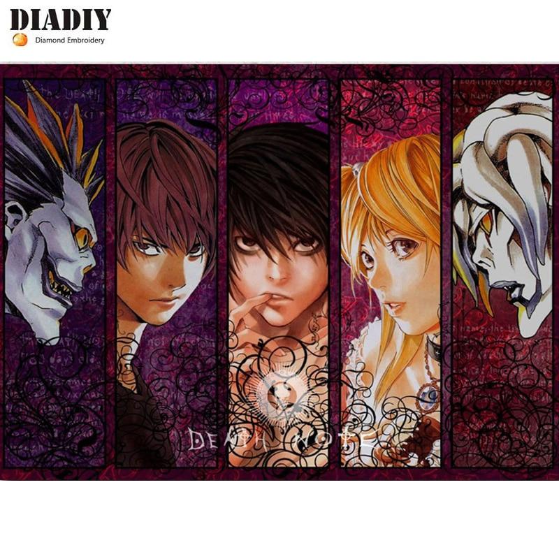 DIADIY Death Note Japanese, Full, алмазная вышивка, 5D алмазная картина аниме, вышивка крестом, Алмазная мозаика, Алмазный Узор, настенная