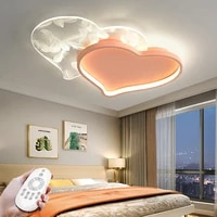 modern chandelier led dimmable heart shaped ceiling lamp with remote control childrens room kitchen corridor study balcony