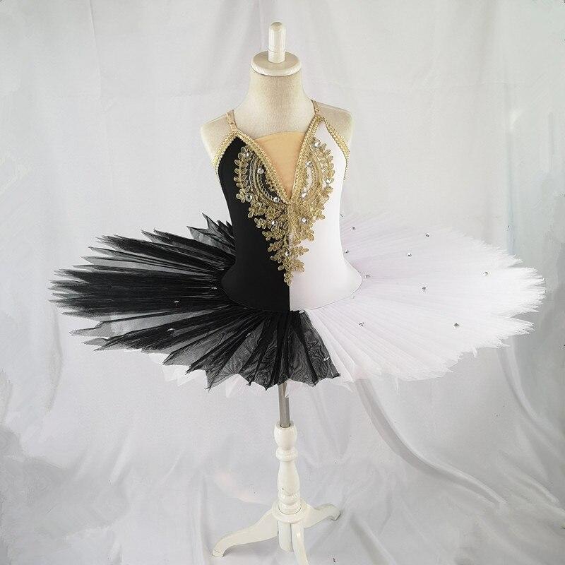 Profesional bailarina ballet tutu para niños niñas adultos panqueque tutú trajes para baile y ballet vestido niñas