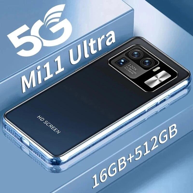 النسخة العالمية Mi11 الترا هاتف ذكي مفتوح 6.7 بوصة 5G 6800mAh 16 + 512GB 16MP + 32MP MTK6889 10 Core أندرويد 11.0 جديد حقيقي الهاتف