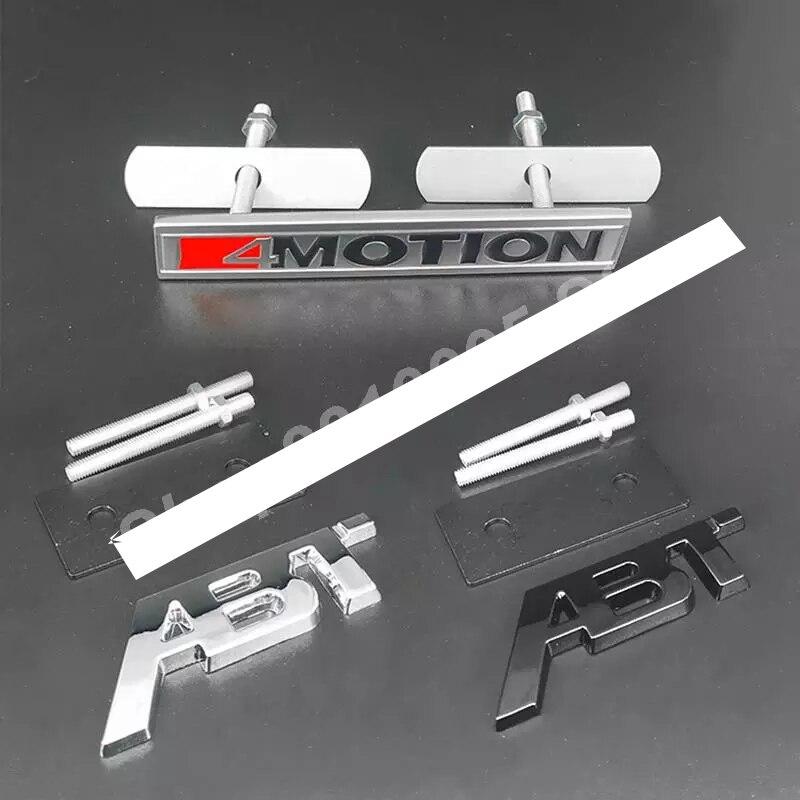Emblema de letras para coche ABT 4MOTION, rejilla delantera, insignia de malla...