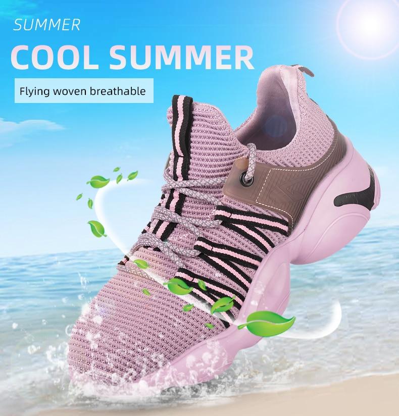 Oeak, deportes para mujer, zapatos vulcanizados, zapatillas de deporte de tela transpirable para mujer, zapatillas de punta redonda con cordones, zapatos de tacón bajo para mujer