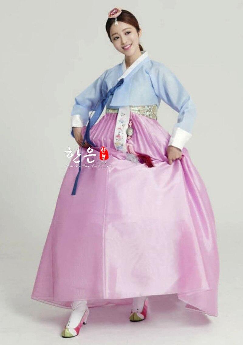 Ladies Hanbok Korean Skirt Korean Imported Fabric Bride Groom Wedding Hanbok Couple Hanbok Wedding Dress