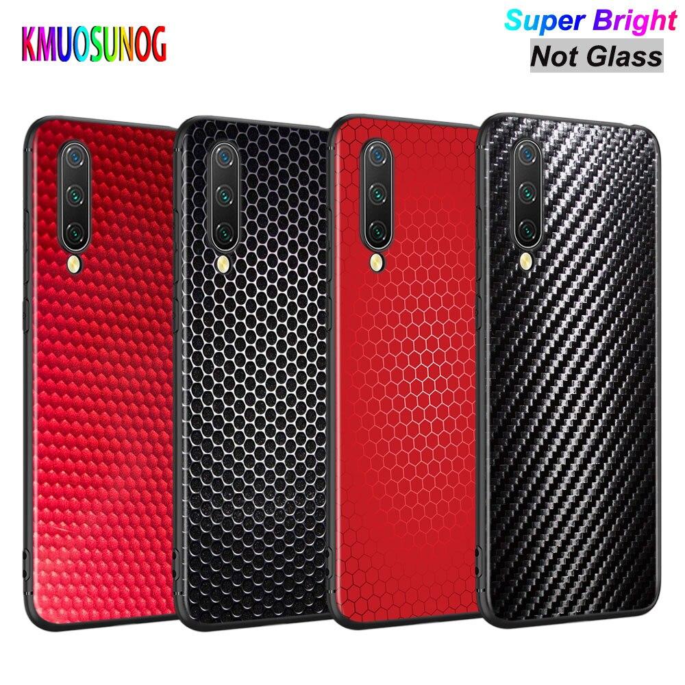 Cubierta negra fibra de estructura de carbono Venom para Xiaomi mi A3 A2 A1 5X6X6 8 Lite 9 9SE CC9 F1 9T 9TPro jugar al teléfono caso