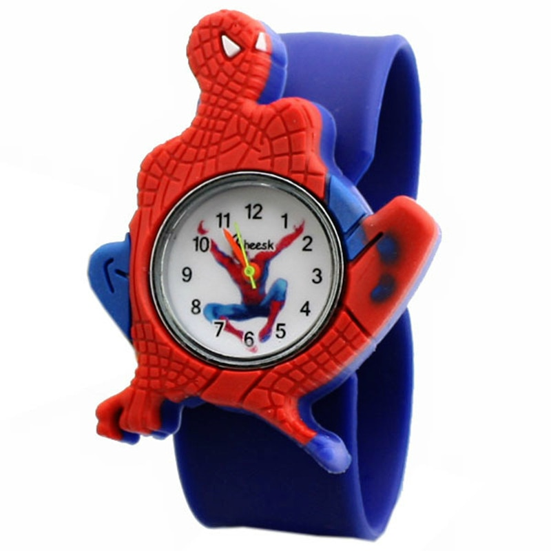 Wholesale 2020 Children's Clock Student Children Boy Spider Man Watches Men Silicone Cartoon Watch R