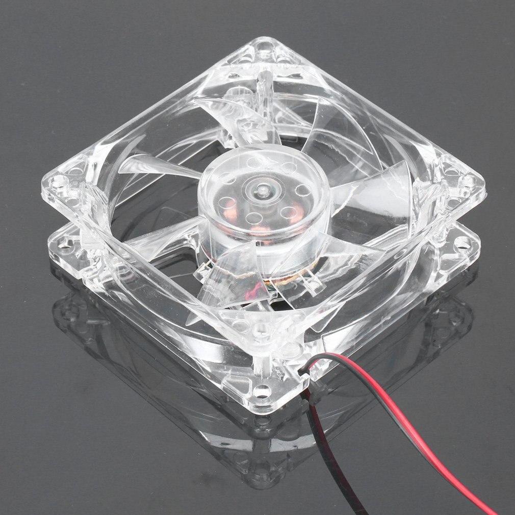 Компьютер ПК вентилятор 80 мм с светодиодом 8025 бесшумный охлаждение вентилятор 12 В светодиод световой Chass компьютер корпус охлаждение вентилятор мод простой установлен