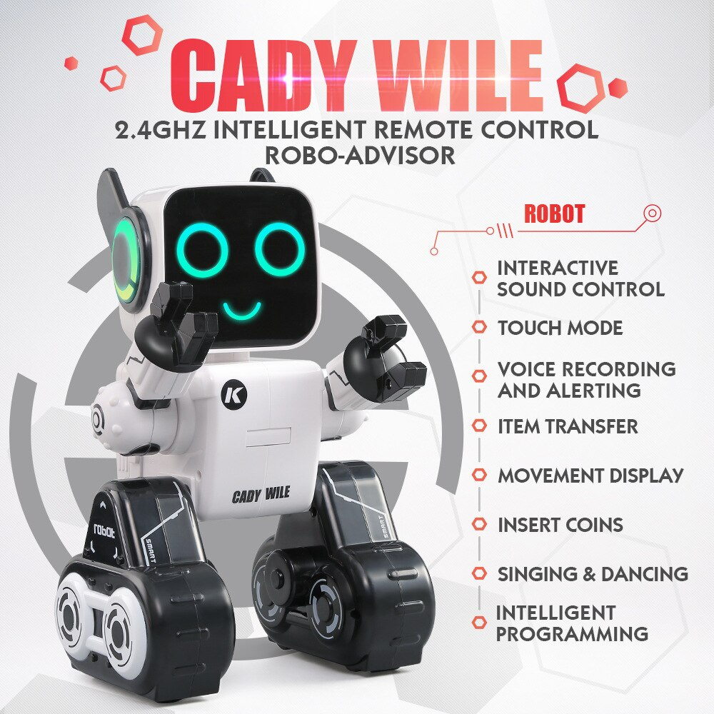 Robot inteligente RC con ahorro de dinero, Control de sonido interactivo, Sensor táctil, grabación de voz, programación de canto y danza, juguete para niños RC
