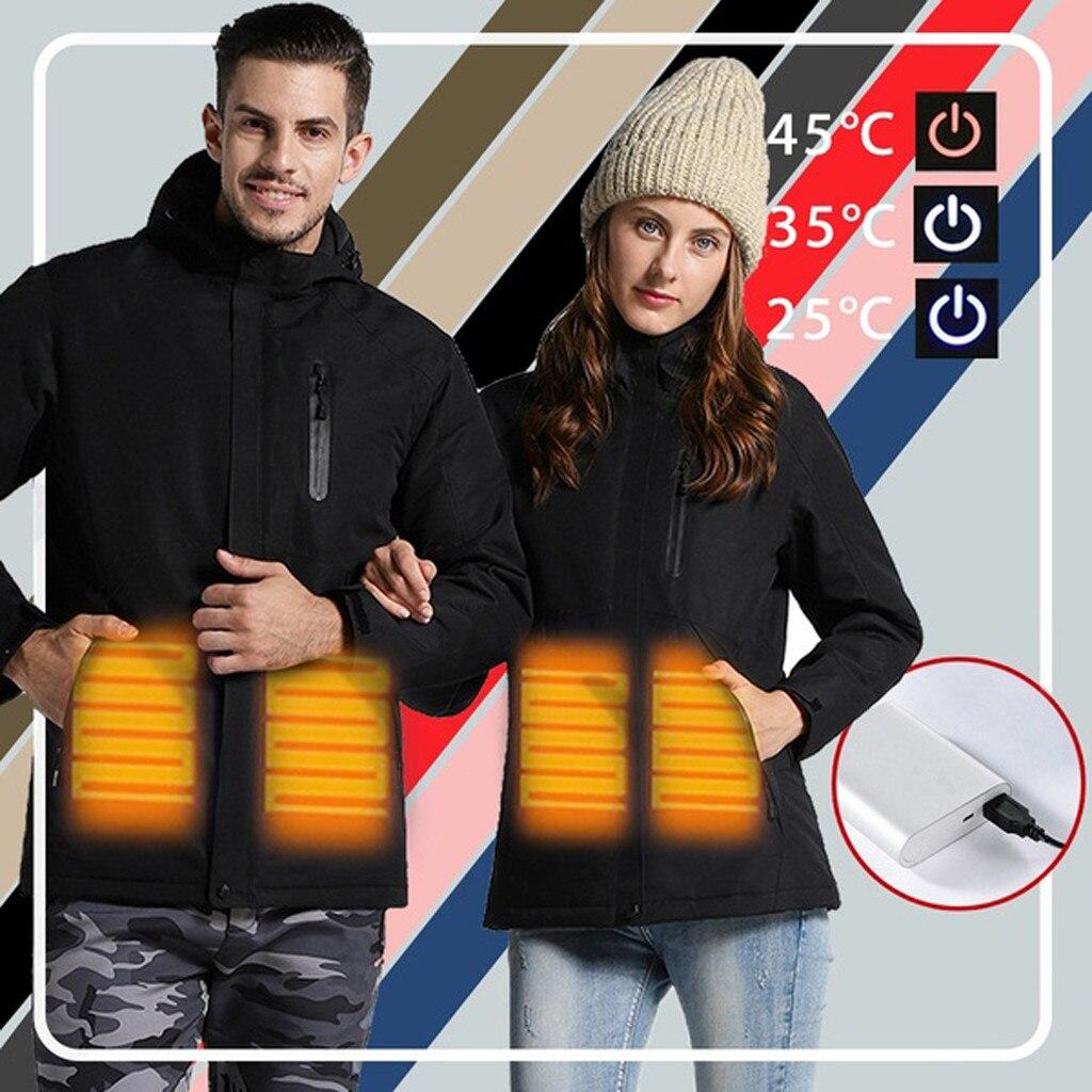 Chaquetas de calefacción electrónica Usb a prueba de agua   chaqueta de abrigo multicolor para mujer