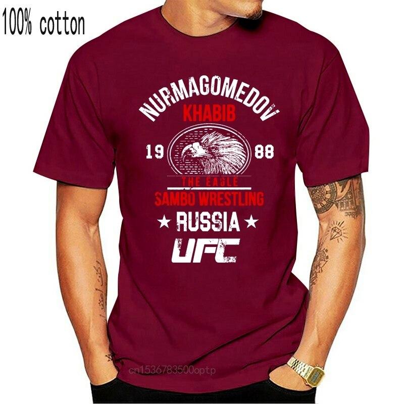 Khabib Nurmagomedov T-shirt DER ADLER Top U Unisex WB043 Schwarz T Hemd