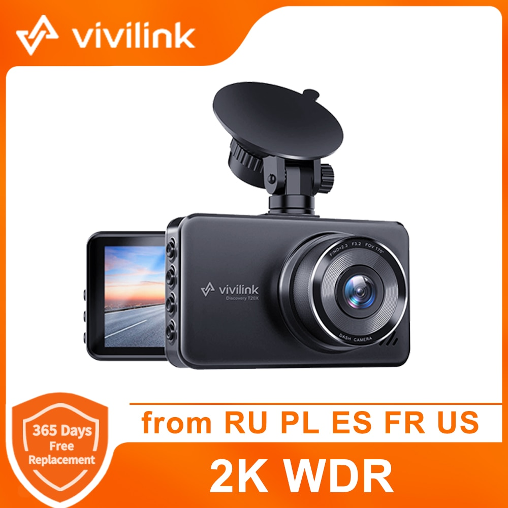 aliexpress.com - ViviLink T20X Dashcam 2.5K Dash Cam Car DVR Mini Driving Recorder 2304*1440P WDR Night Vision 24h Parking Monitor Cam Car