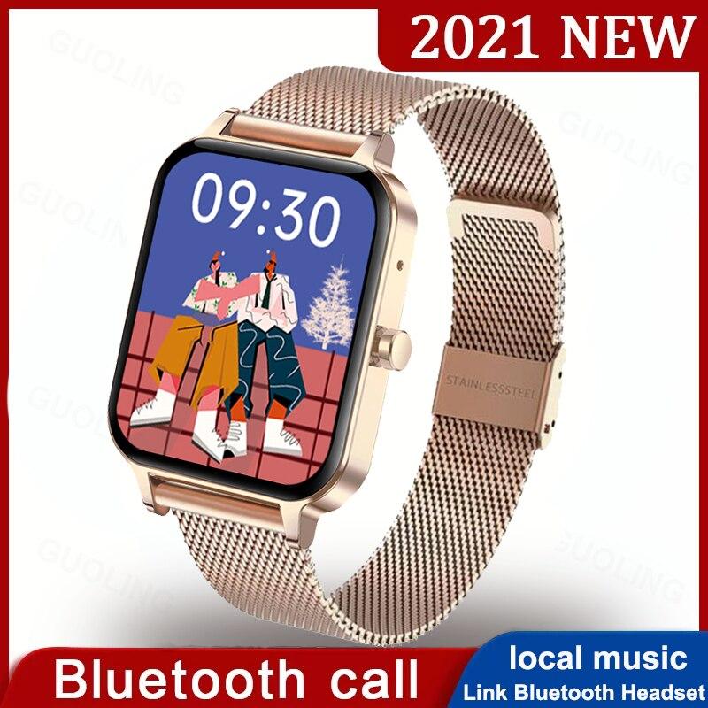 2021 Smart Watch Women Men Full Touch Screen Bluetooth Call Custom Dial MP3 Music Player Smartwatch