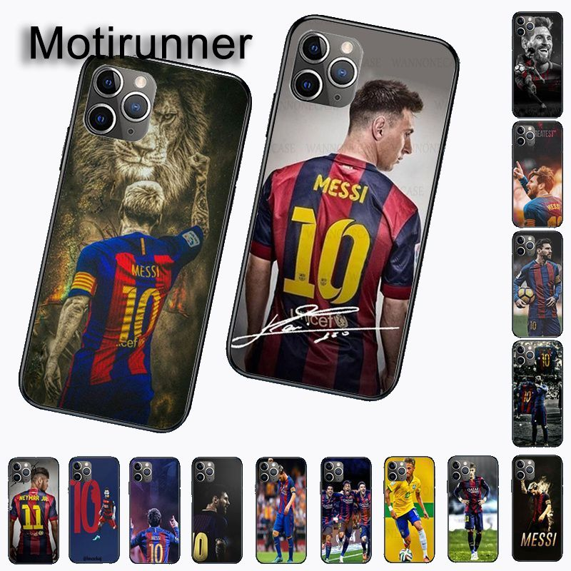 Accesorios blandos para teléfono móvil para iphone 11pro 5s 6s 7 8plus x xs xr xsmax coque Cover Lionel Messi Neymar fútbol