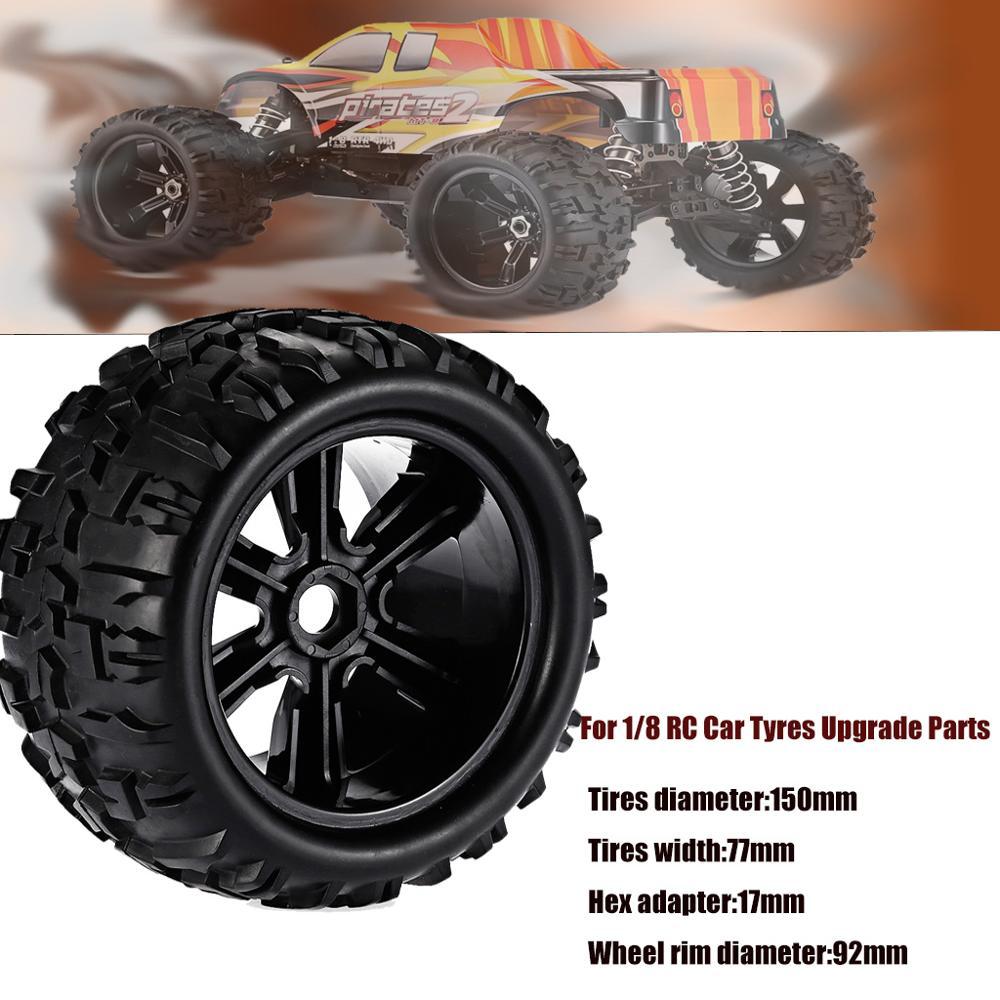 2 uds./4 Uds. 18 RC Car Off-Road bigpie camión Neumáticos y ruedas para HSP 4WD HPI ZDRacing 1/8 RC coche neumáticos mejora piezas