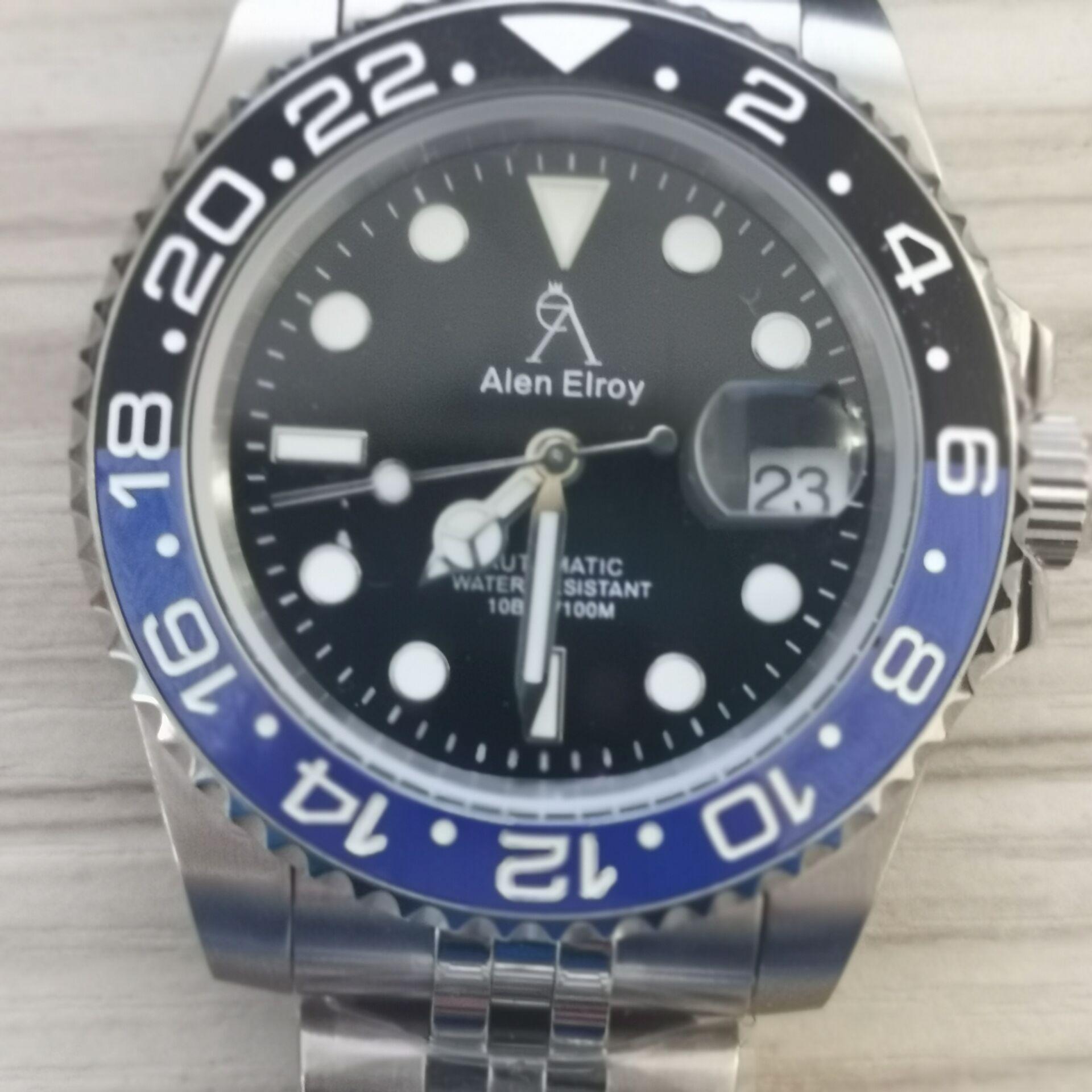 AE High-end watches men's automatic U1 factory ceramic bezel sapphire glass luminous needle sweep movement luxury Black sub 02