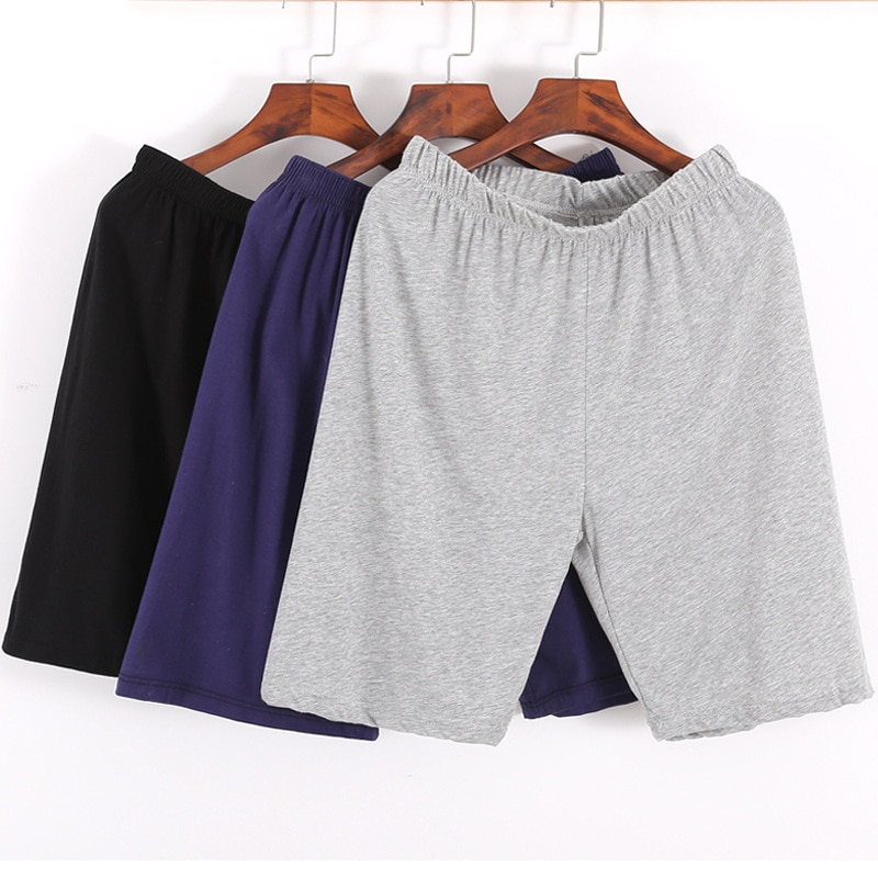 Men's Sleepwear Lounge Shorts Underwear Cotton Solid Thin Summer Comfortable Home Boxer Shorts Casua