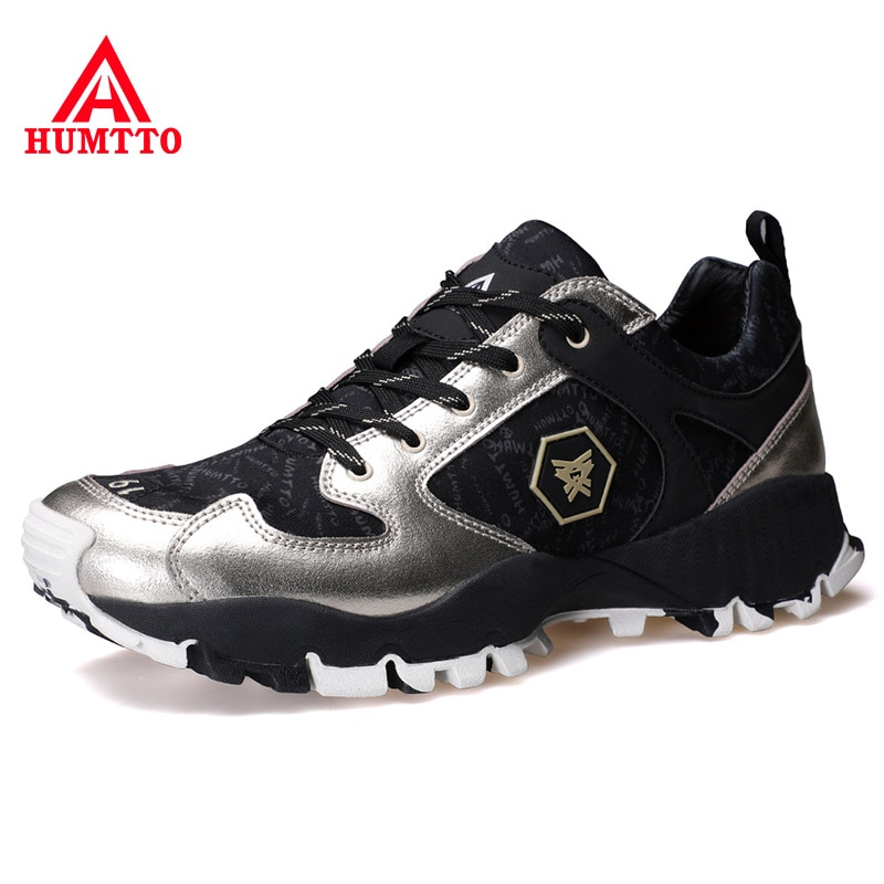 HUMTTO-أحذية رياضية جلدية غير رسمية للرجال ، قابلة للتنفس ، لفصلي الربيع والصيف ، أحذية فاخرة مصممة ، لون أسود