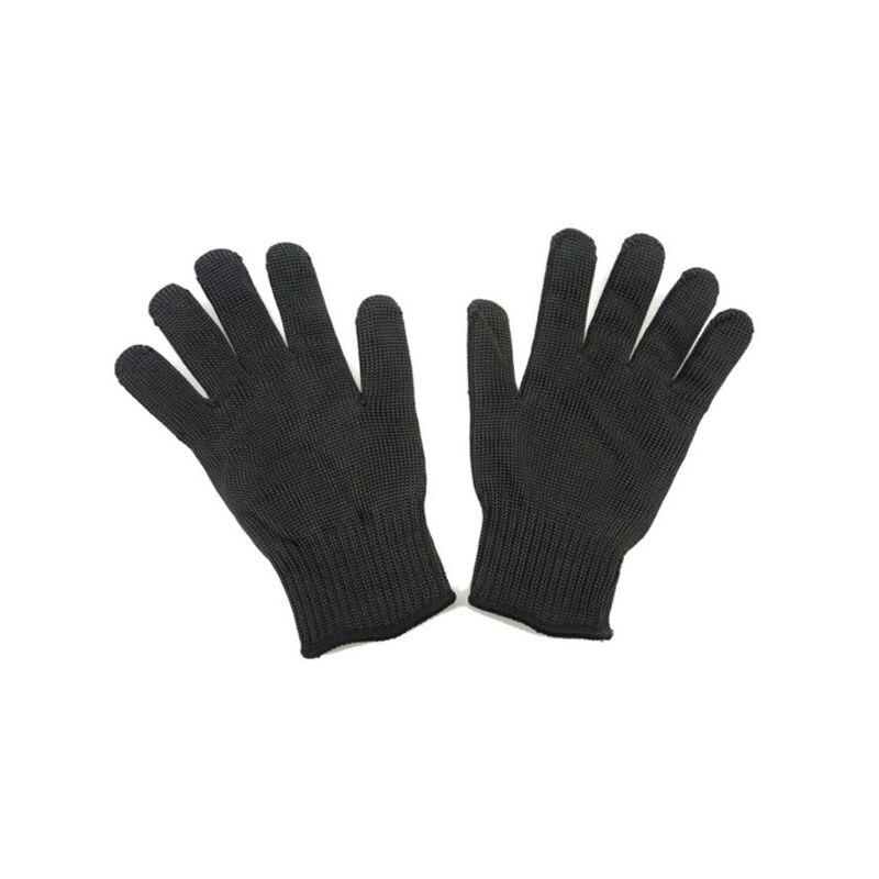1 par de guantes Anti-corte a prueba de cortes resistentes a puñaladas de acero inoxidable Nivel 5 proteger