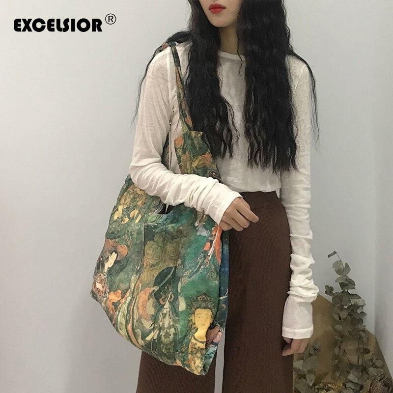 EXCELSIOR, bolsos con estampado de moda para mujer, bolso cruzado informal de alta calidad, bolsos de lona suaves, gran capacidad para la vida diaria, bolso grande