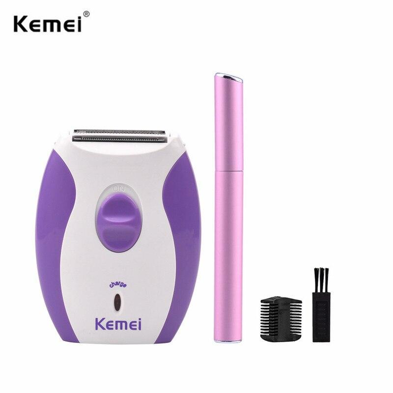Kemei depilatoria eléctrica para mujer, depilación Facial, depilación, maquinilla de afeitar para mujer