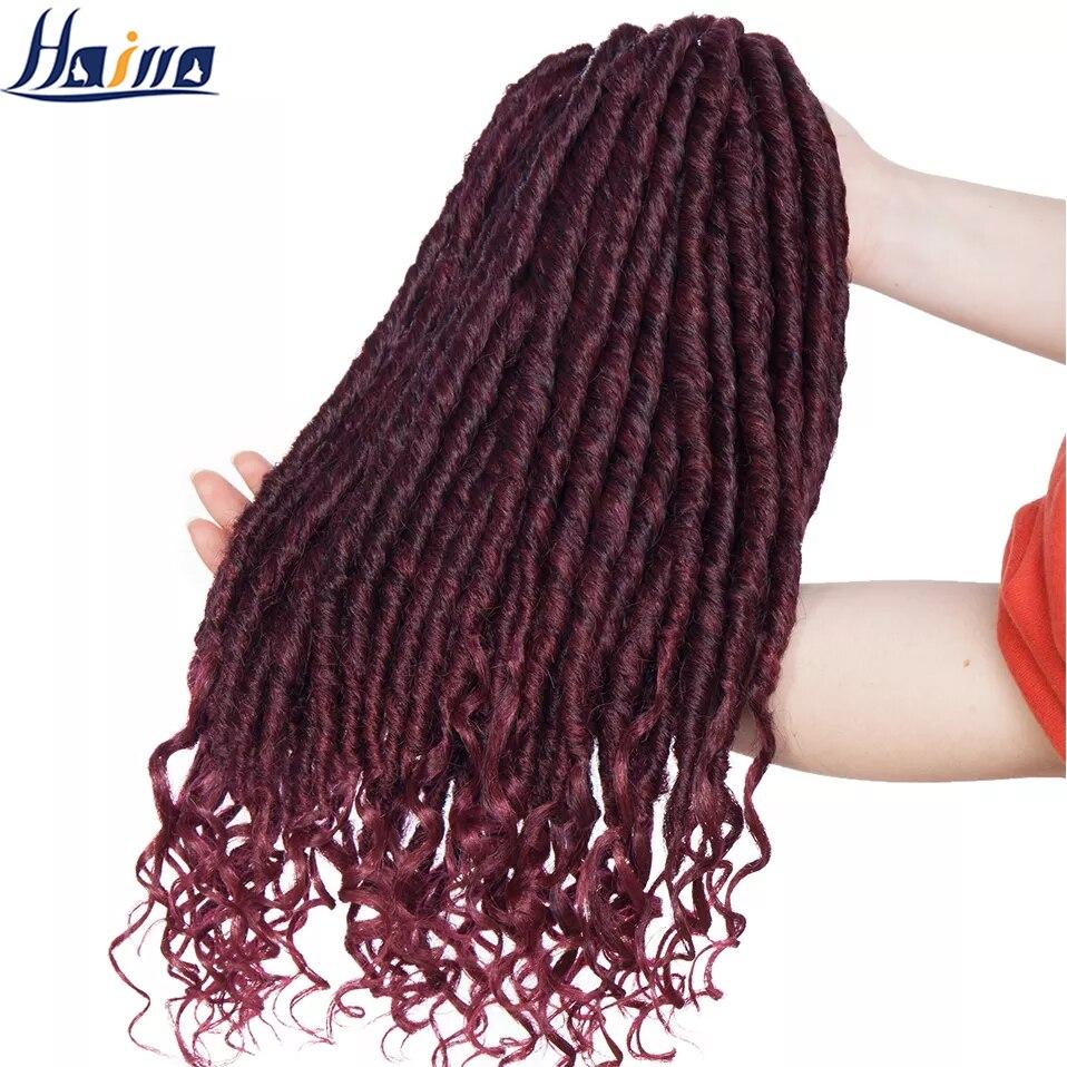 hairro sintetico 16 polegada deusa faux locs croche tranca de cabelo 24 fios pcs