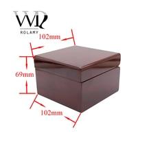 Rolamy gros mode luxe bois montre boîte bijoux mallette de rangement boîte-cadeau avec oreiller pour Rolex Omega IWC Breitling Tudor