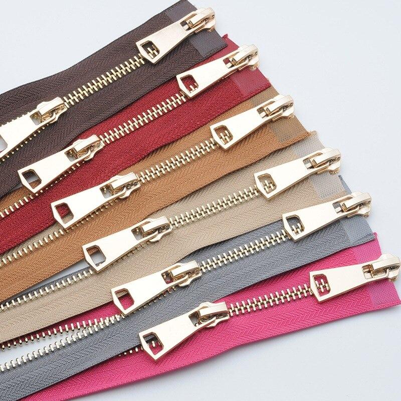 120 см цветные высококачественные открытые двойные слайдеры серебристая металлическая молния сделай сам ручная работа для тканевых карманов одежды