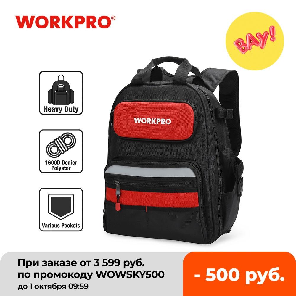 WORKPRO 2020 جديد أداة حقيبة أدوات تخزين حقائب مقاوم للماء على ظهره مع حقيبة يد متعددة الوظائف حقائب