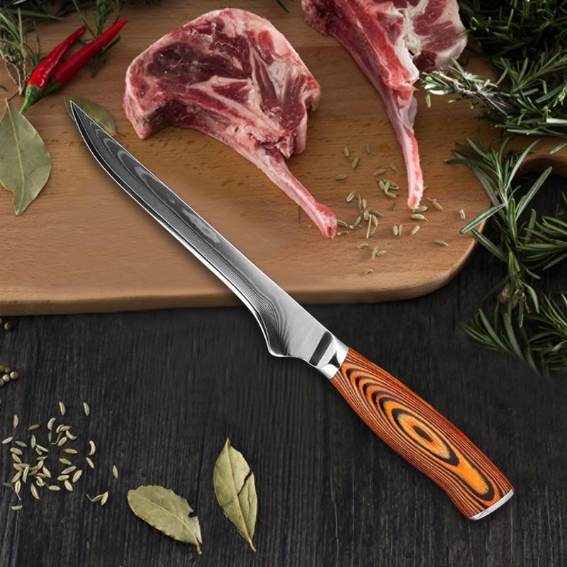 سكين نزع العظم سكين الجزار الياباني لقتل الأغنام الساشيمي سكين السمك الساطور لتقشير تقطيع اكسسوارات المطبخ