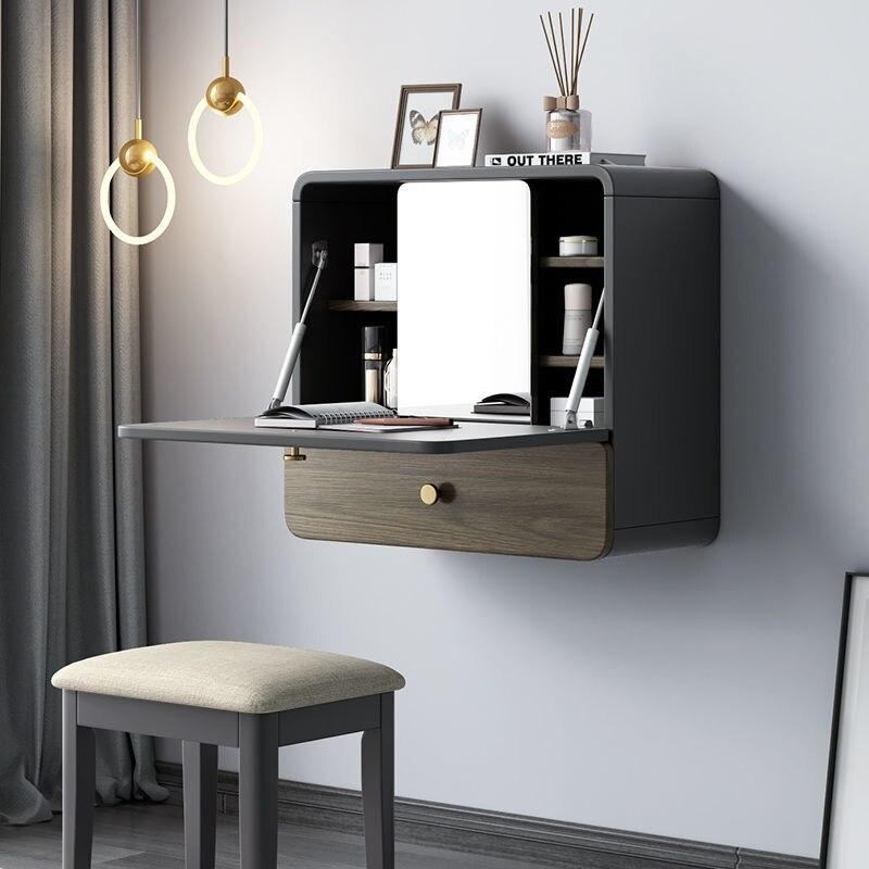 Креативный настенный подвесной туалетный столик эркерное окно настенная подвесная Сетка Красный ins простой шкафчик для хранения в спальню ...