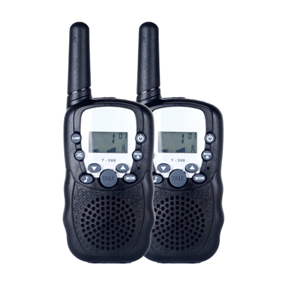T388 UHF Two Way Radio Portable Handheld Children's Walkie Talkie with Built-in Led torch Mini Toy G