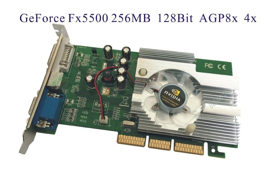 NEUE Quadro GeForce FX5500 256MB DDR AGP 4X 8X VGA DVI Video Karte, andere fx5200 7600gt
