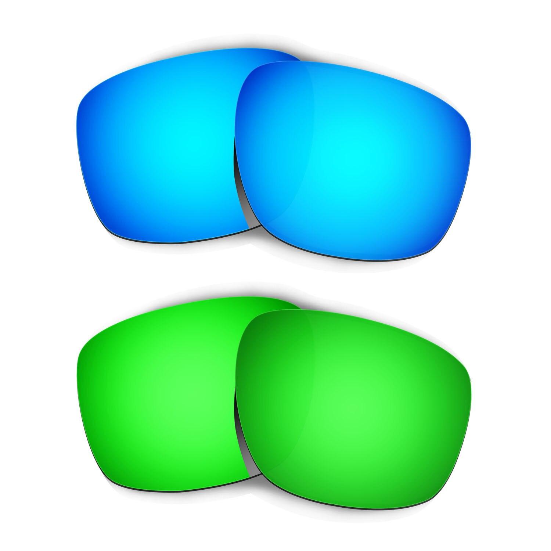 HKUCO ل الشظية النظارات الشمسية استبدال العدسات المستقطبة 2 أزواج-الأزرق والأخضر