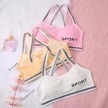 Girls Underwear Bras Lingerie Kids Baby 6-8-12Years Sport Young Teens Teenage Vest type Puberty Lett