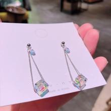 Women s Earrings Fashion Jewelry Geometric Long Earrings S925 Anemone Fun Hanging Earrings Stone Natural Drop Earrings  E546