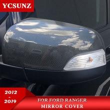 Auto Accessoires Abs Carbon Spiegelkappen Voor Ford Ranger 2012-2019 2020 T6 T7 T8 Wildtrak Dubbele Cabine