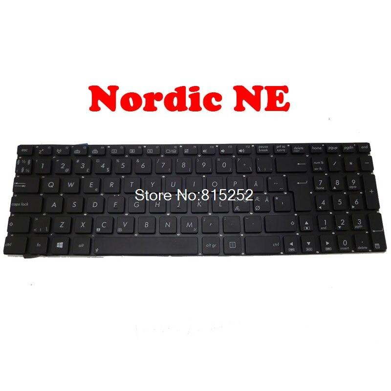 Portátil retroiluminado teclado para ASUS N56 N56DP N56DY N56VB N56VJ N56VM N56VV N56VZ N56JK N56JN N56JR nórdicos NE/Reino Unido