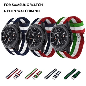 22mm Watch Strap Quick Release Woven Nylon Watch Band for Samsung Galaxy Watch 3 46mm Gear S3 Bracelet for Huawei GT2 Pro