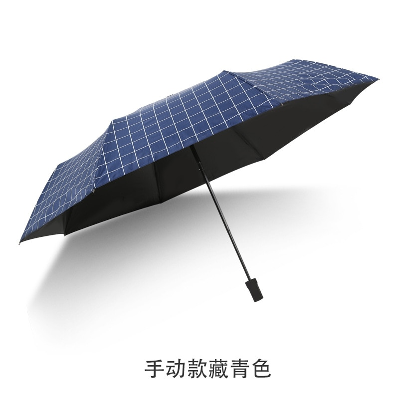 Creative umbrella black sun protection against ultraviolet rays men and women three fold umbrella paraguas enlarge