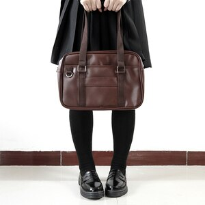 Japanese Preppy Style Handbags High College Students JK Uniform Shoulder Bags Unisex Leather Messenger Bags For Women Schoolbags