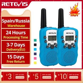 RETEVIS RT388 talkie-walkie enfants 2 pièces radio pour enfants talkie-walkie enfants cadeau d'anniversaire jouets pour garçons filles 100-800M gamme