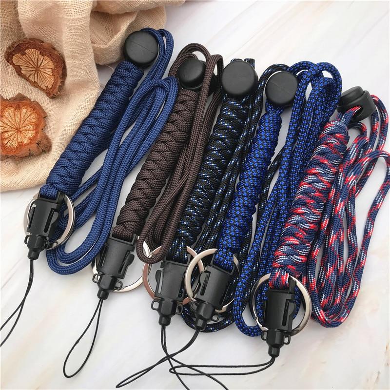 Sangles de téléphone portable Camping randonnée durgence tactique survie tressé sauvetage parapluie corde extérieure poignet lanière Parachute cordon