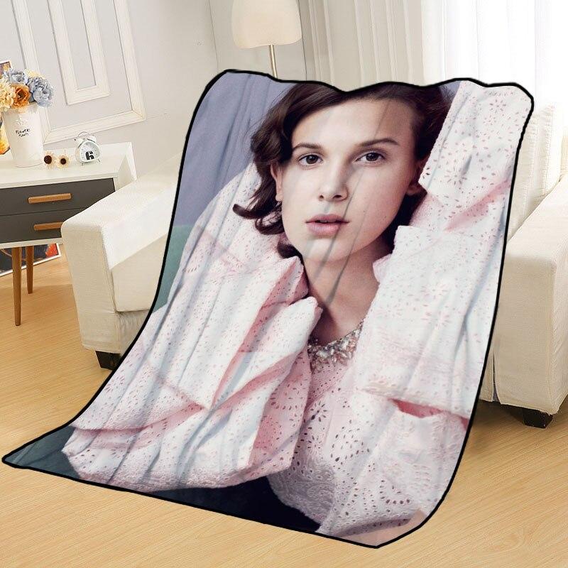 بطانيات قابلة للتخصيص باللون البني مع صورتك ، للأسرة ، تزيين غرفة النوم ، السفر