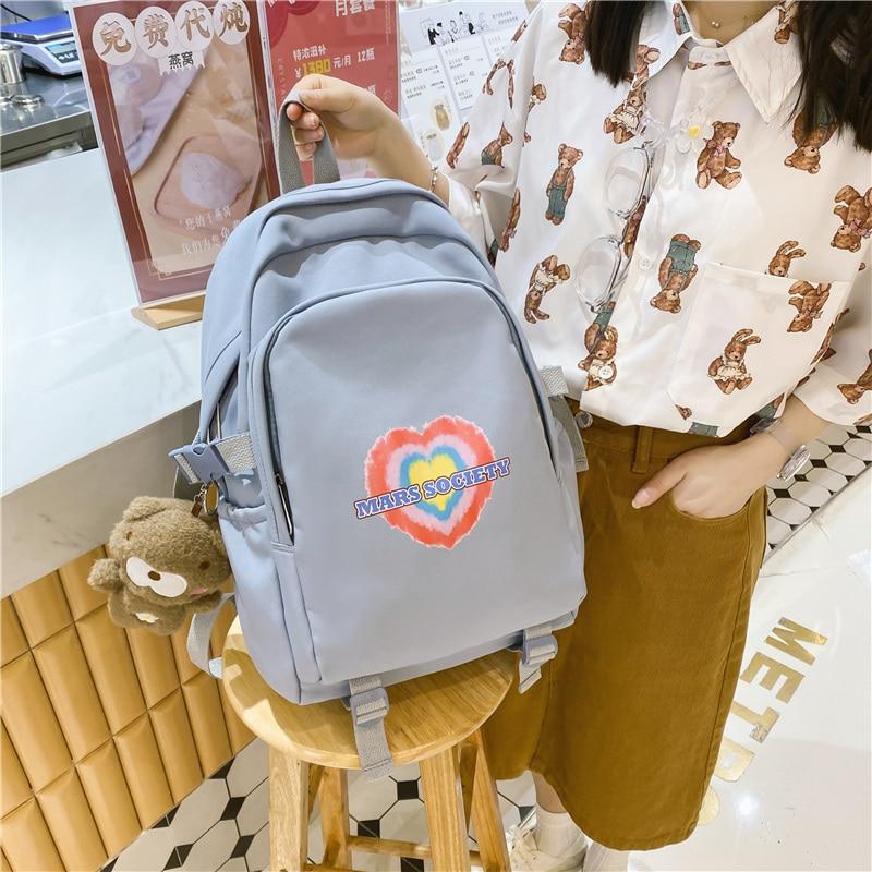 Fashion Backpack Waterproof Women For Teenager Kawaii Girl Student Mini College Black Cute School Ba