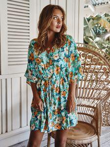 Short dresses summer 2020 Floral dress for women Bohemian short dress Mini dress Women's Clothing Summer Beach Holiday Dresses