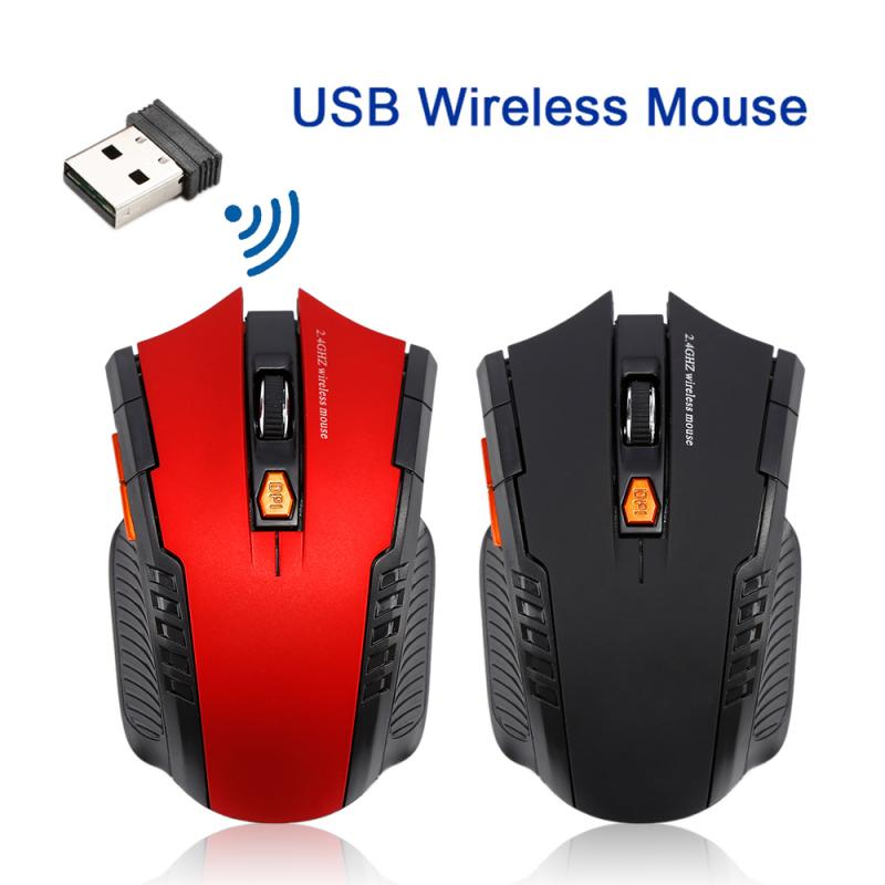 2.4GHz Wireless Mice With USB Receiver Gamer 1600DPI Mouse For Computer PC Laptop