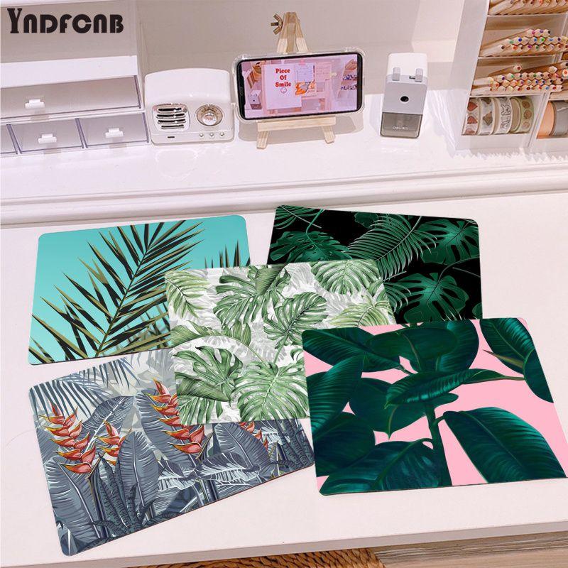 Высококачественный коврик для мыши YNDFCNB с тропическими растениями, дизайн «сделай сам», гладкий коврик для мыши, настольные компьютеры, игр...