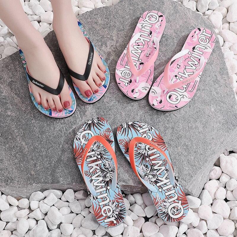 Flip-Flops Women's Outer Wear Non-Slip 2021 New Summer Fashion Color Matching Soft Bottom Beach Beach Bathroom Flip Flops Women  - buy with discount