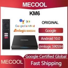 Original Mecool KM6 Deluxe Edition Amlogic S905X4 TV Box Android 10 2G16G 4G 32G/64G Version Google