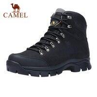 Походные ботинки CAMEL мужские высокие, прочные водонепроницаемые Нескользящие уличные треккинговые ботинки для скалолазания, военные такти...